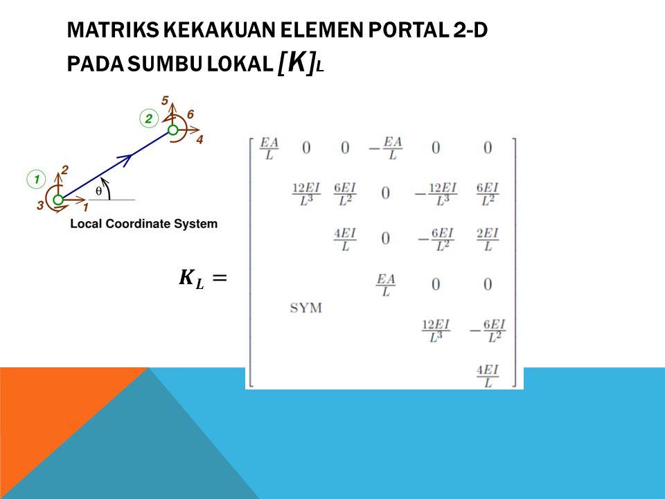 MATRIKS KEKAKUAN ELEMEN PORTAL 2-D PADA SUMBU LOKAL [K]L